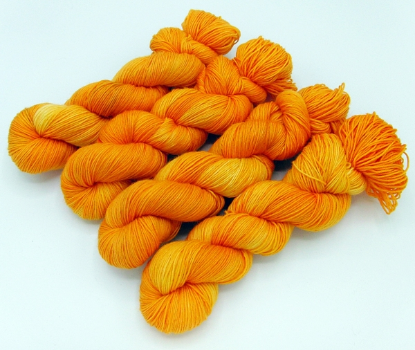 "SockYarn 100g 3.5 oz. ""ORANGE"""